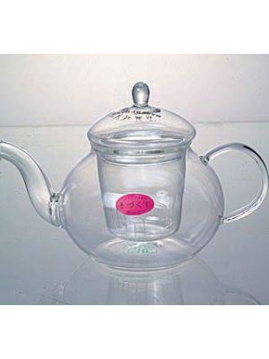 Teiera in fine vetro con filtro