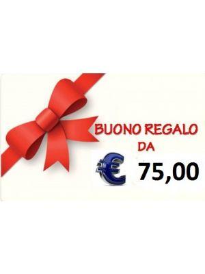 BUONO REGALO DA € 75,00